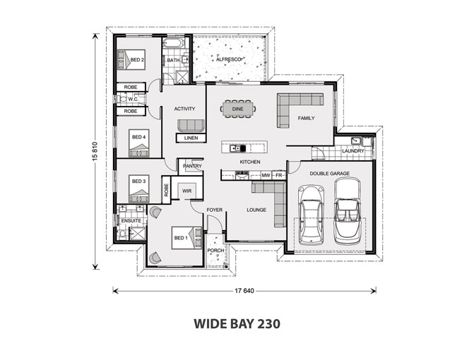 GJ Gardner House and Land Wide Bay 230 Floorplan